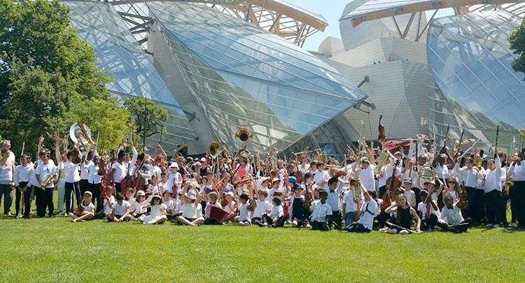 Les enfants de l'Orchestre en concert au Jardin d'Acclimatation